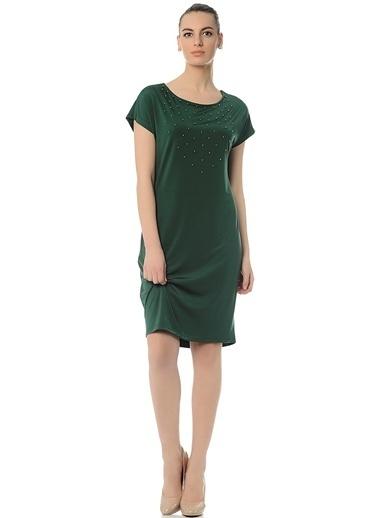 Asymmetry Kısa Kollu Elbise Yeşil